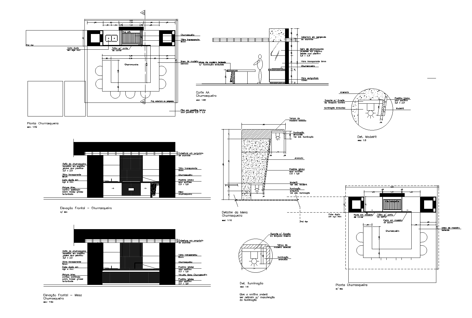 Barbeque grill plan dwg file.