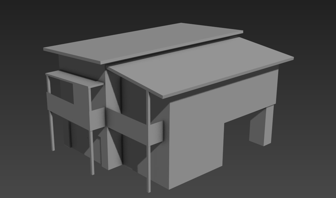 Basic House Elevation 3D MAX File Free