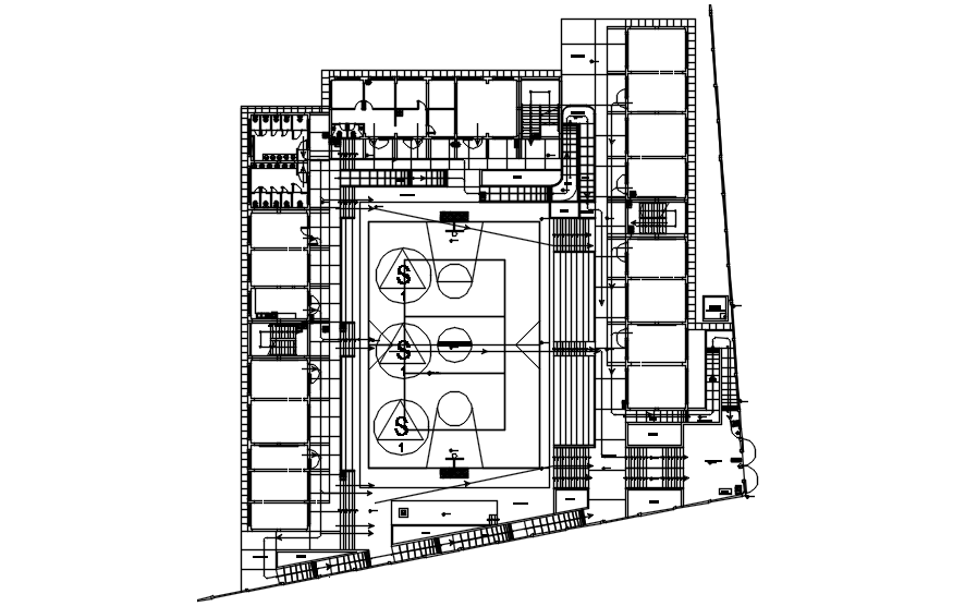 Basketball layout in Autocad
