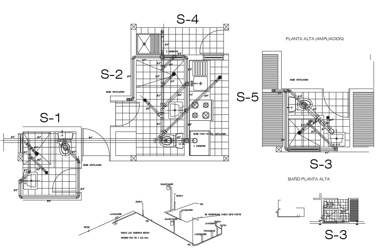 Bathroom Floor Plan CAD File