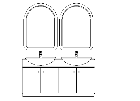 Bathroom dressing unit 2d elevation