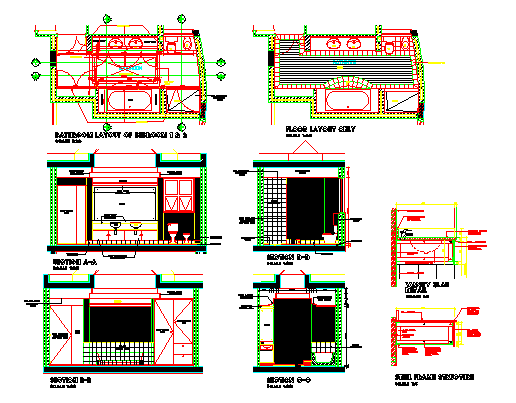 Bathroom_Residential_Sketch Plan design drawing