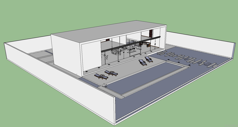 Clubhouse Design SKP File