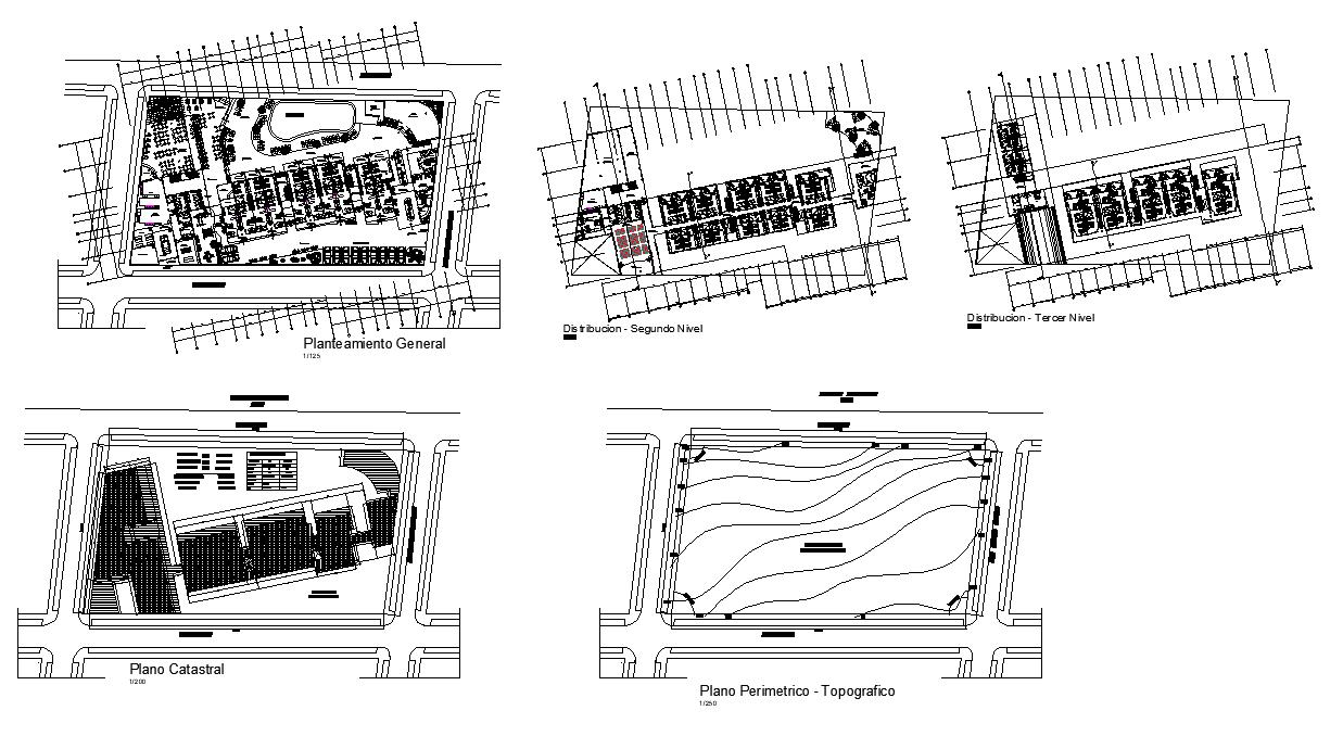 Beach hotel detail plan 2d view autocad file