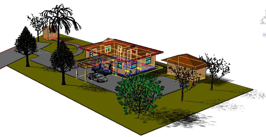 Beach house 3d detail