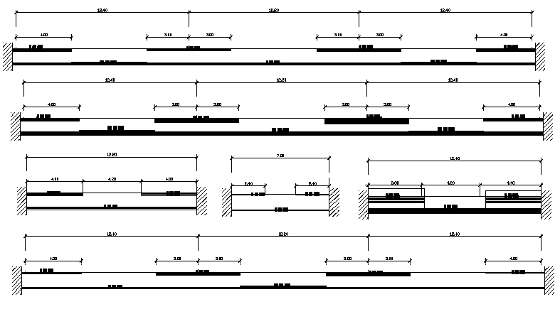 Beam construction details of corporate office dwg file