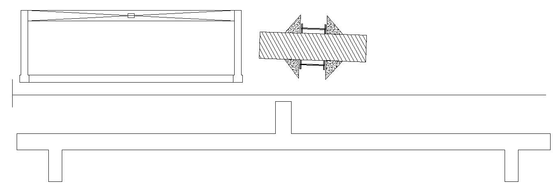 Beam detail in dwg file