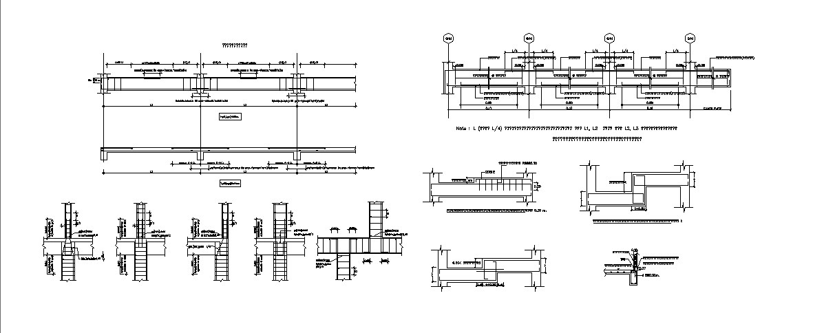 Beam schedule and constructive structure cad drawing details dwg file