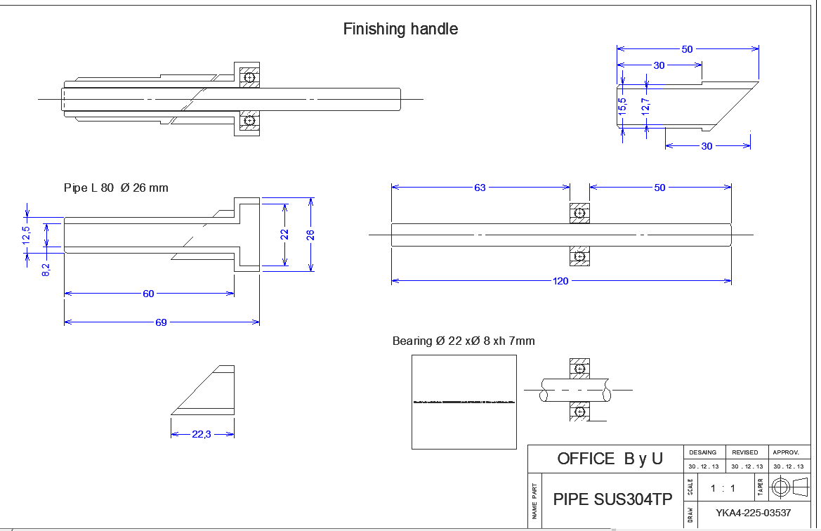 Bearing structure view detail dwg file