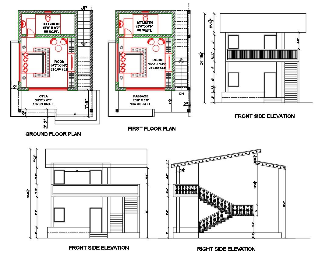 Bedroom House Plan DWG File