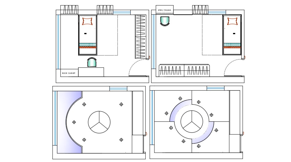 bedroom plan and ceiling design autocad drawing  cadbull