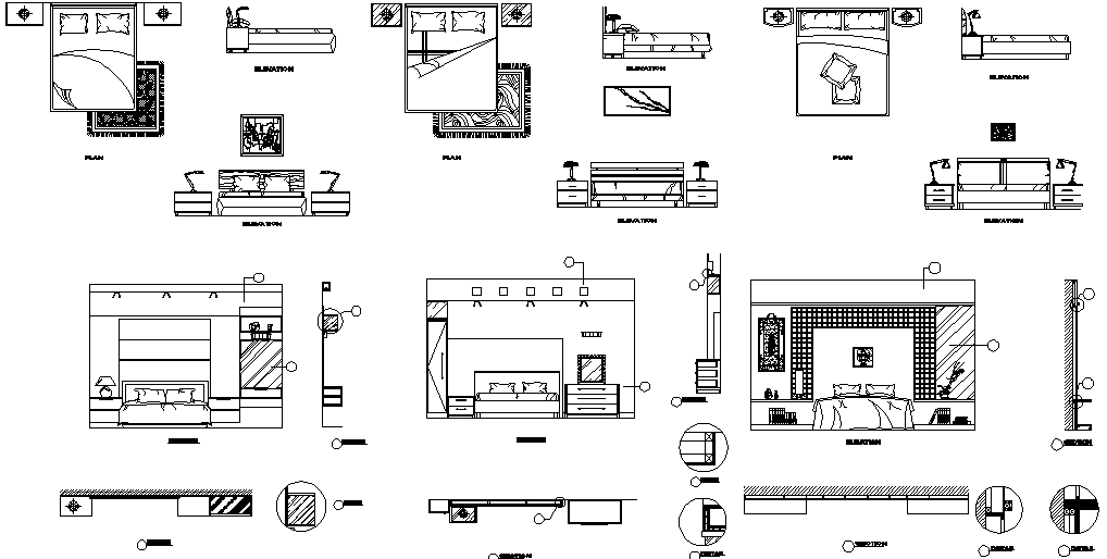 Download Bed Cad Block In DWG