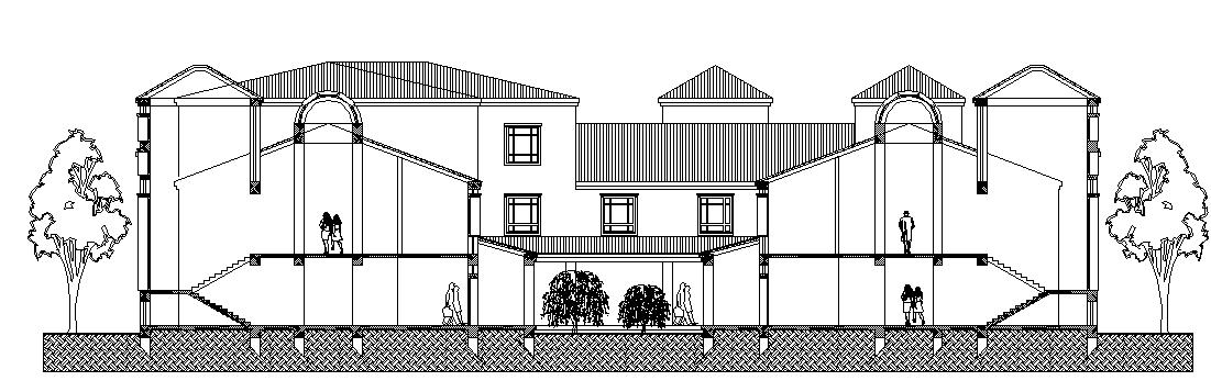 Big building elevation details