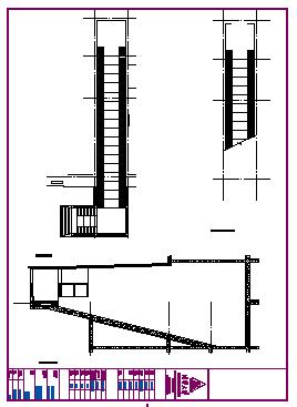 Bike ramp section detail design drawing