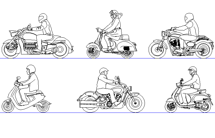 Free Human CAD Block AutoCAD Drawings