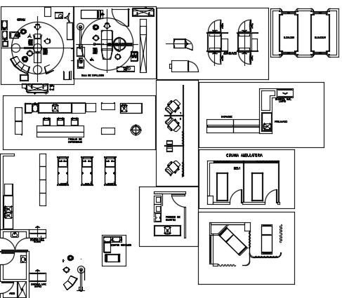 Blocks of Hospital Operatingroom