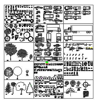 Blocks of furnitures vehicles and other blocks  dwg file
