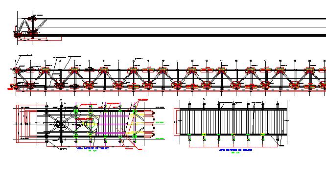 Bridge construction details architecture project dwg file