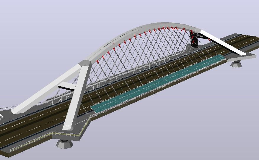3d bridge drawing in DWG file