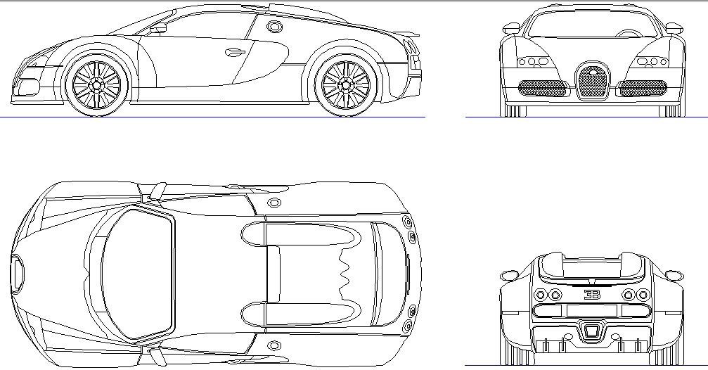 Download Free Car CAD Block In DWG File