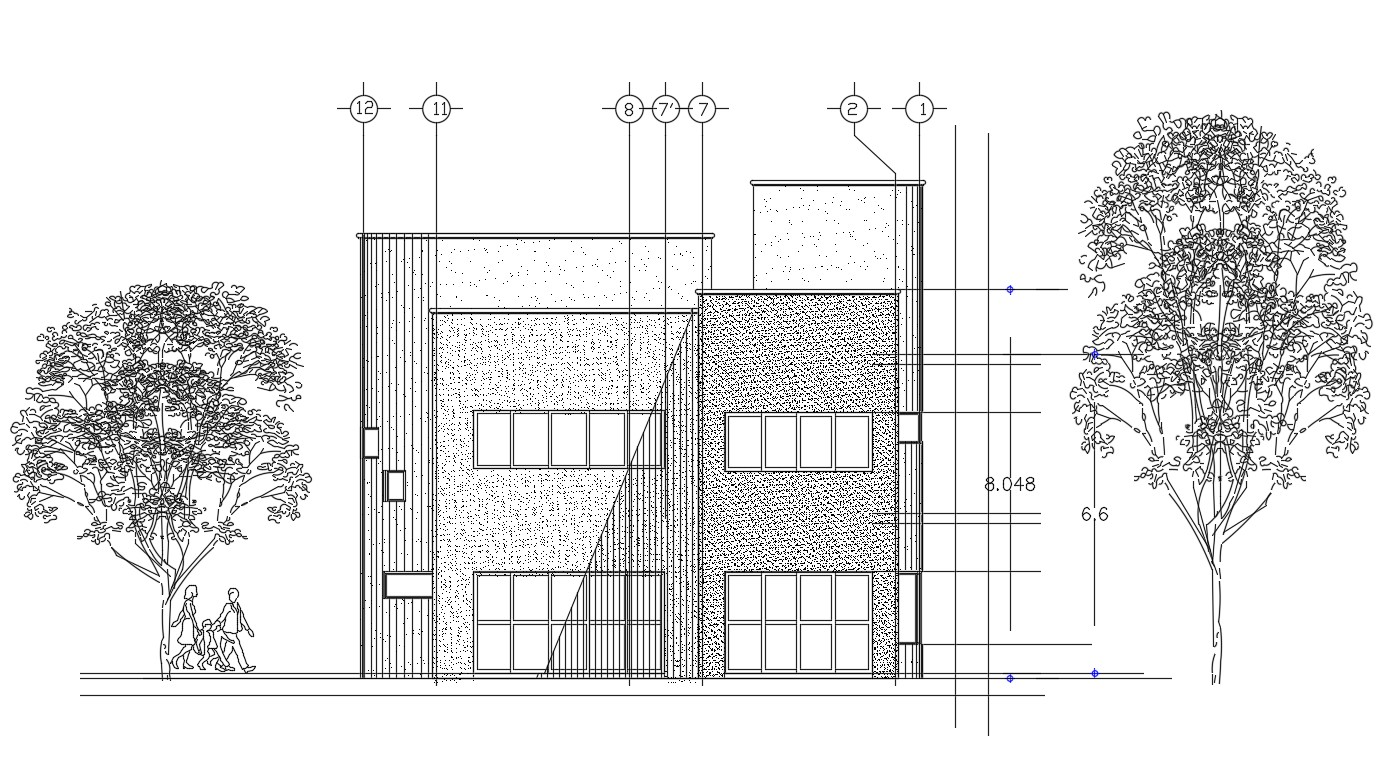 Building Design AutoCAD drawing download
