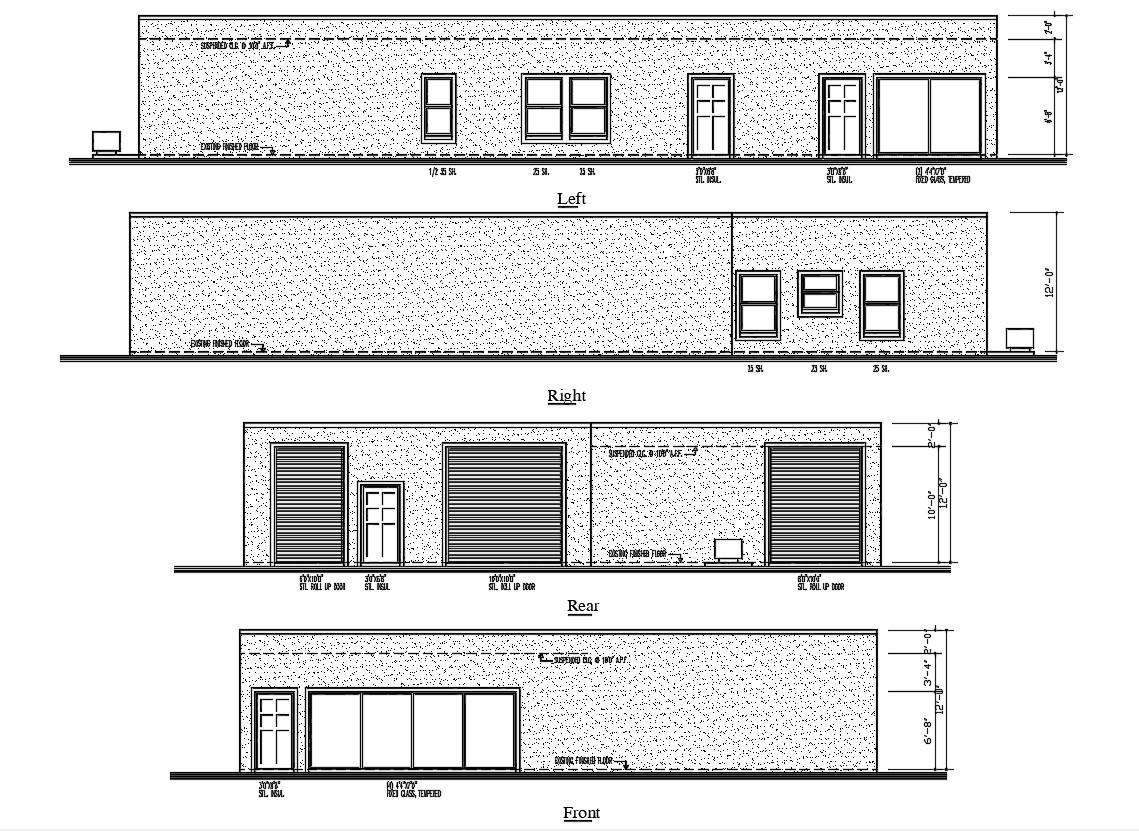Building Elevation Design DWG File
