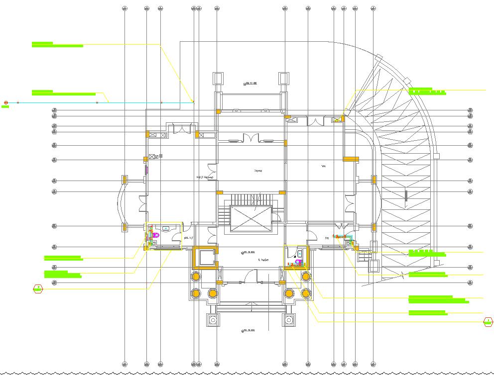 Building Floor Layout plan dwg file