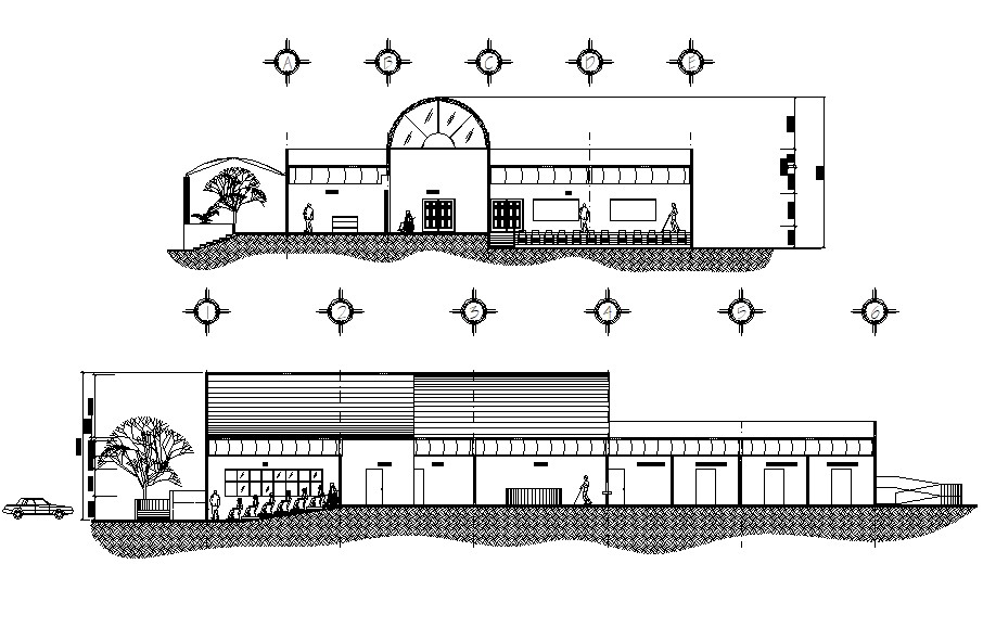 Building Section Detail AutoCAD drawing