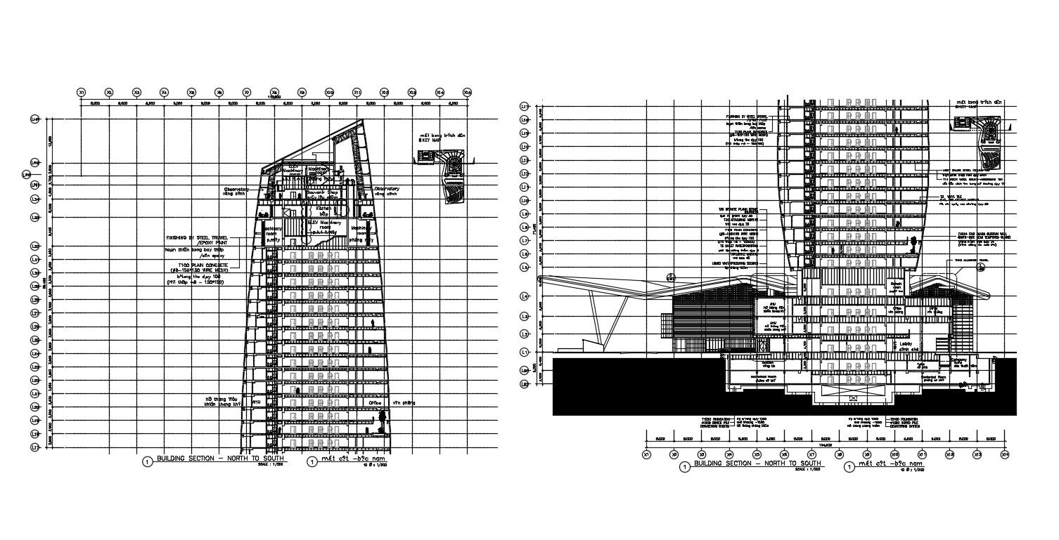Building Section Plan AutoCAD File