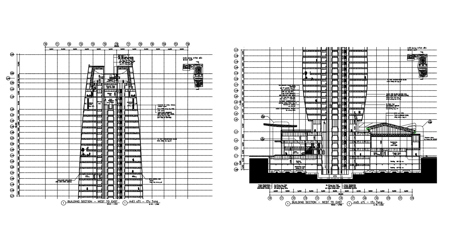 Building Section Plan DWG File