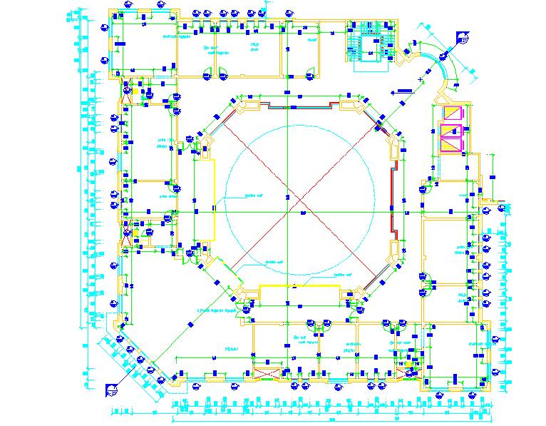 Building Third Floor Detail in the DWG file