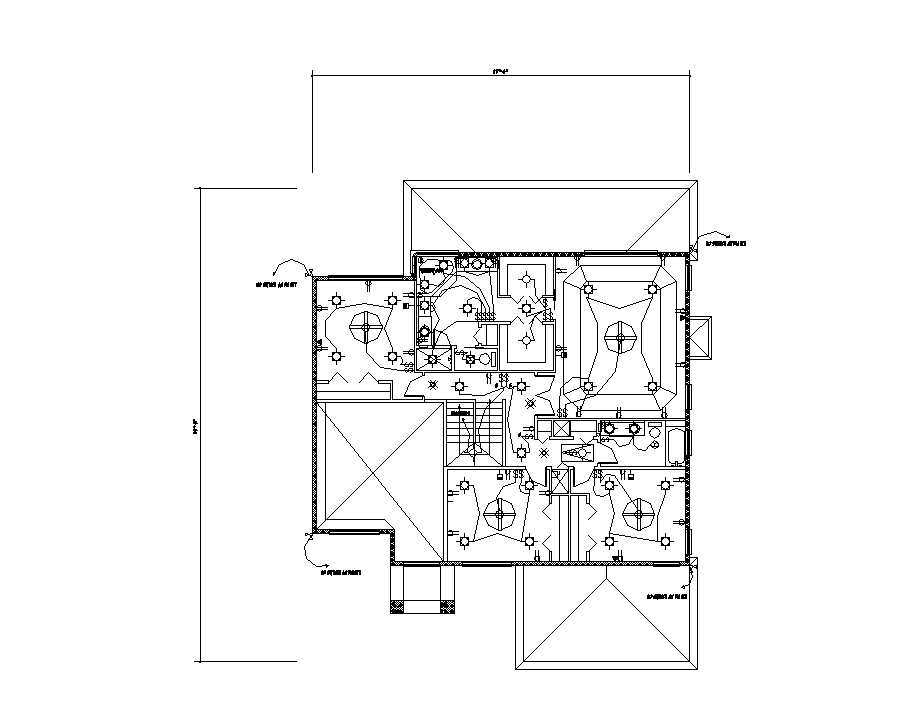 Building electrical installation detail 2d view layout file