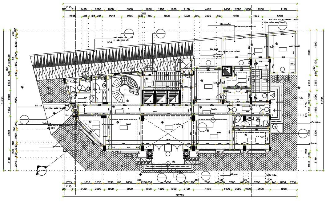 Download Free Building floor plan design in AutoCAD file
