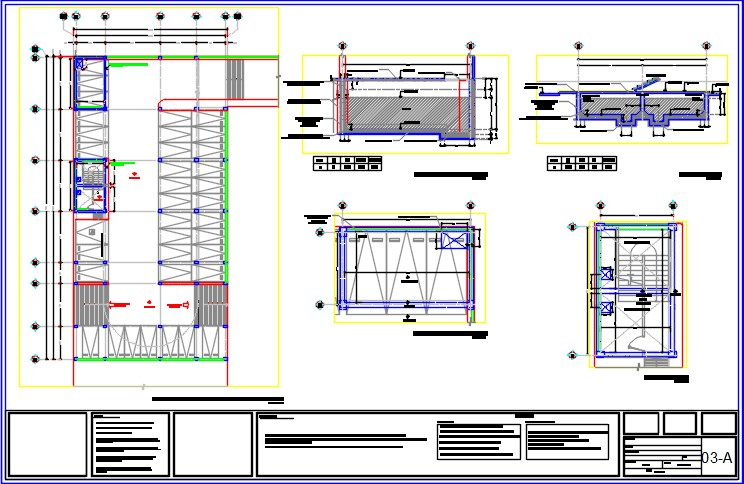 Building ground floor plan with stromwater tank detail.