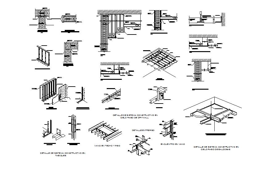 Building material detail dwg file