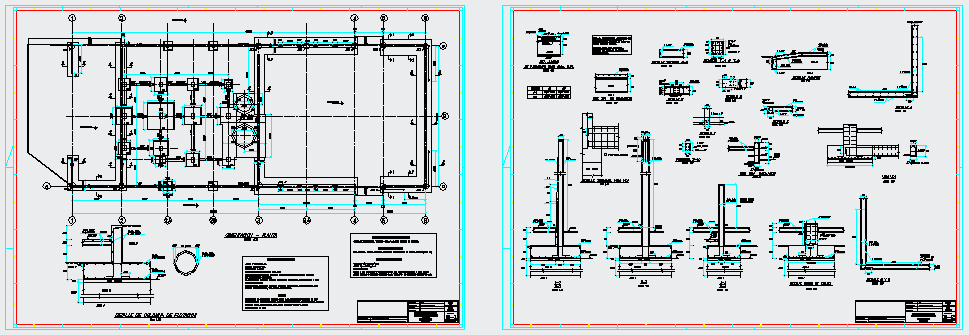 Building of flotation plant of minerals design drawing