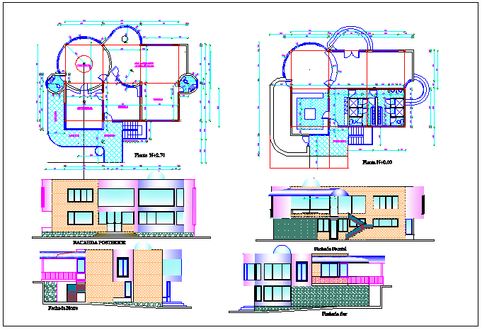Building plan detail and elevation plan detail dwg file