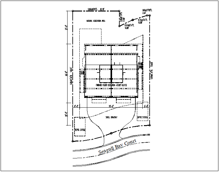 Building plan layout view of detail dwg file