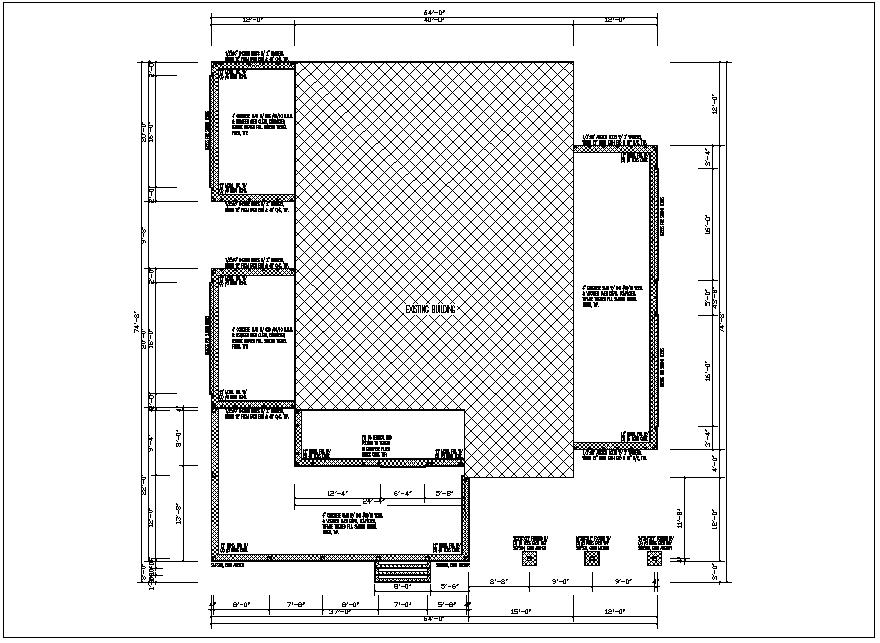 Building plan view detail dwg file
