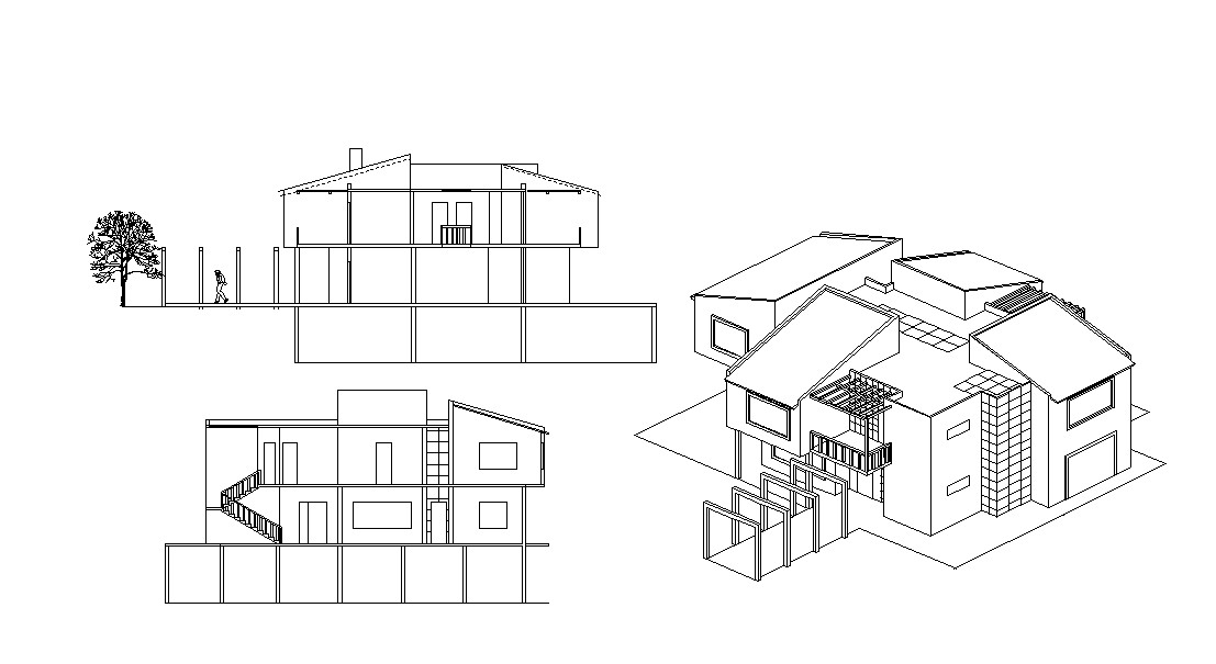Bungalow Design CAD Architecture Drawing