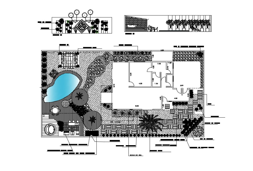 Bungalow Site Plan In AutoCAD Drawings