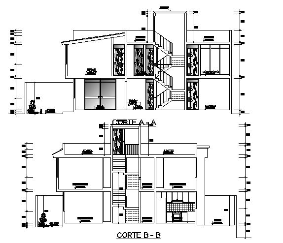 Bungalow elevation dwg file