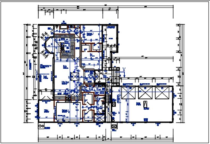 Bungalow planning detail dwg files