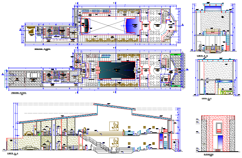 Bungalow project detail dwg file