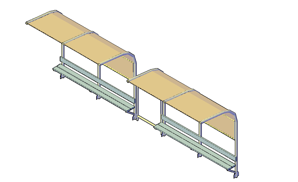 Bus stop top shelter design