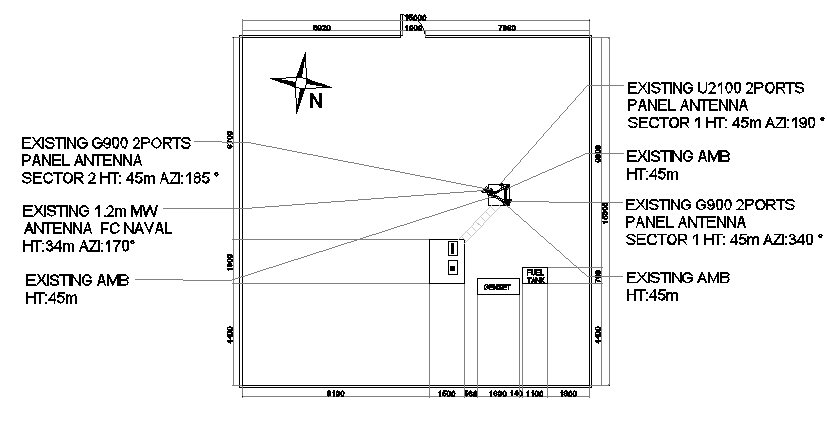 Cabin details with cable panel of electric tower dwg file