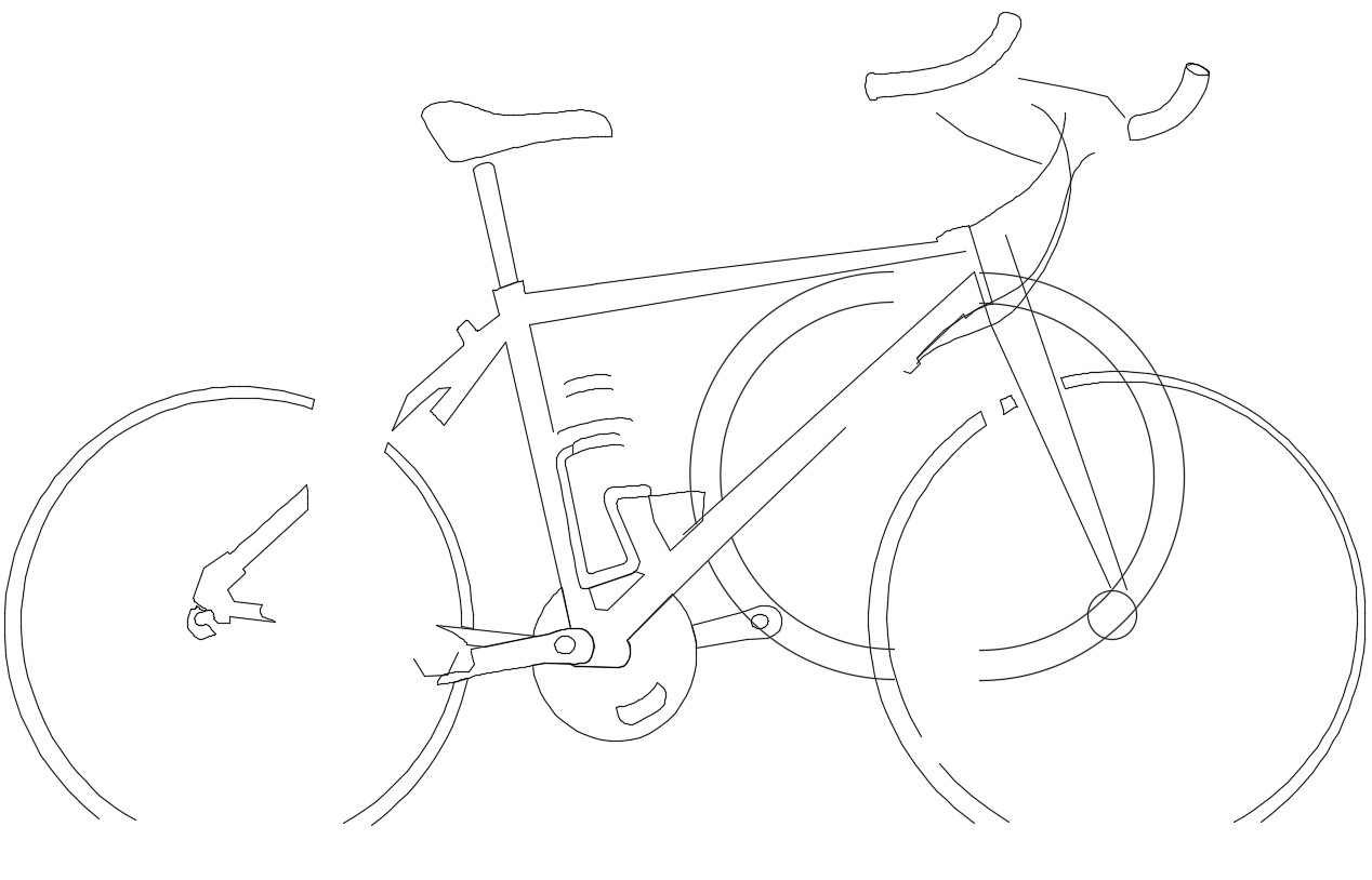 Cad drawing of the bicycle
