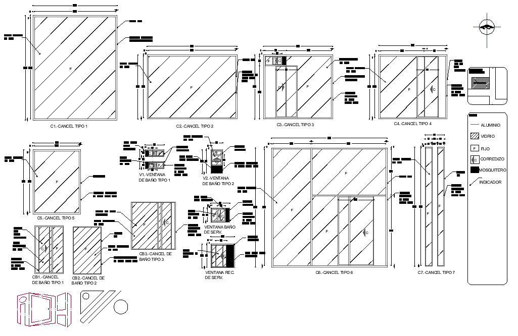 Cancellation elevation and section layout file