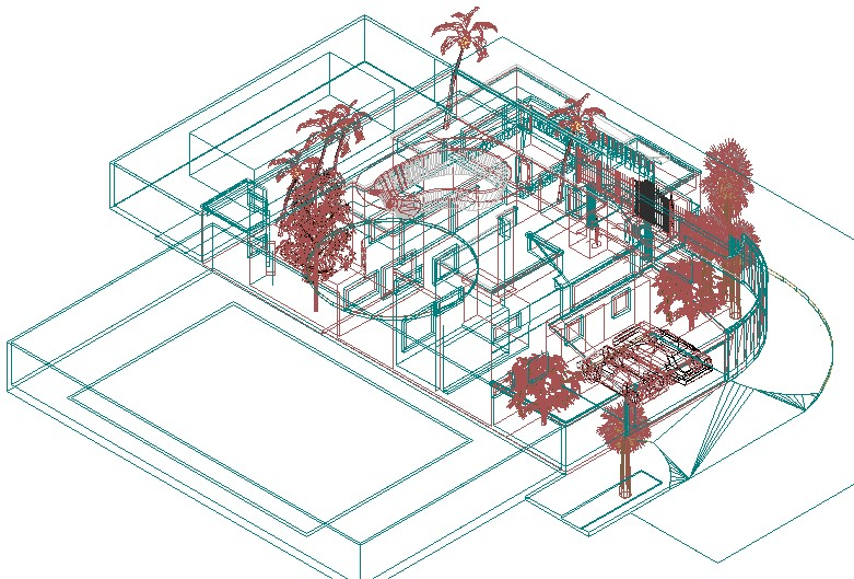 Cancun residence in block built