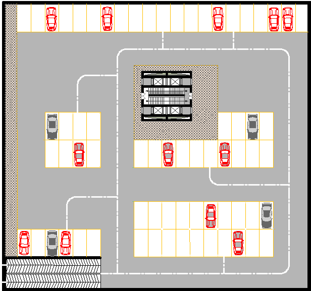 Car parking basement dwg file